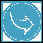 Chiropractic Washington DC Blue Arrow Icon